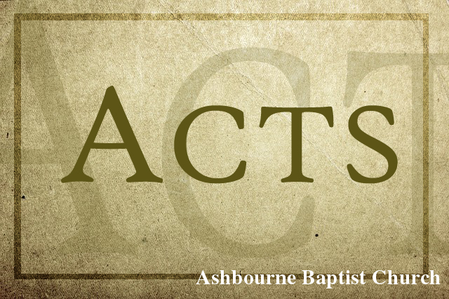 Acts Sermon Series Cover